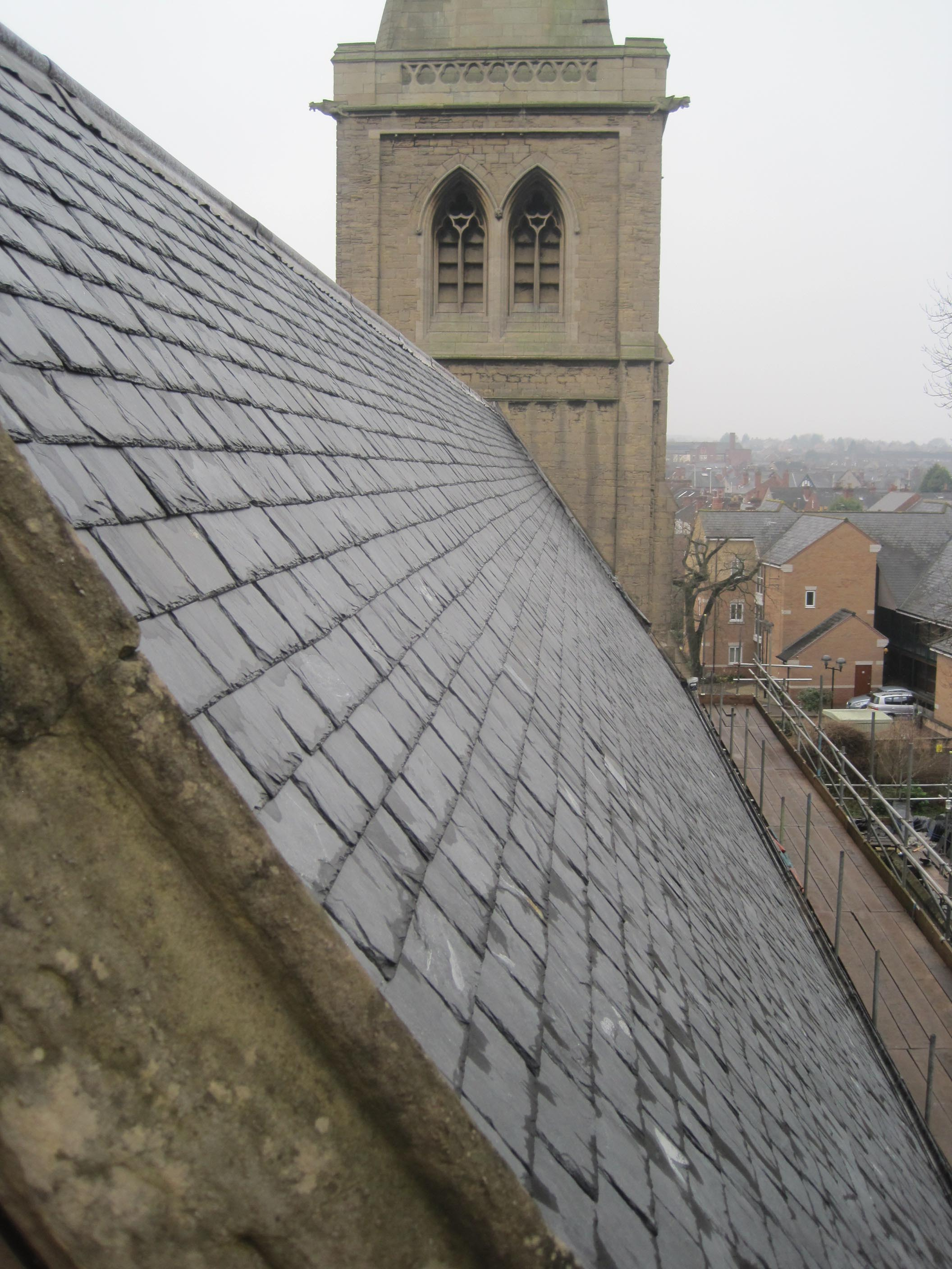 North nave roof completed