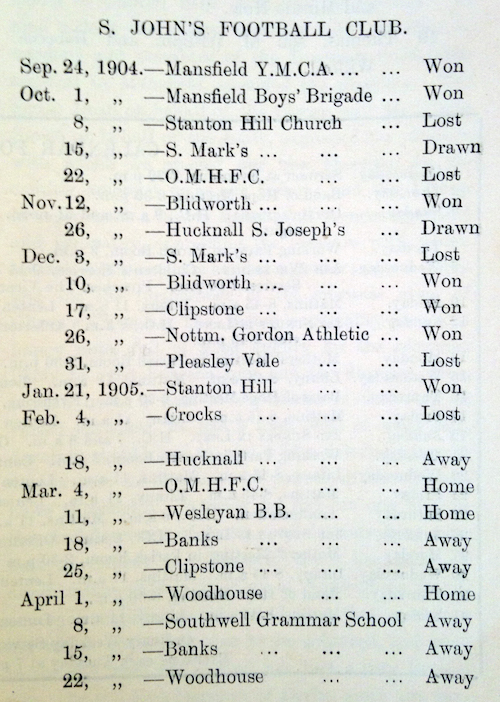 10 1905 football results