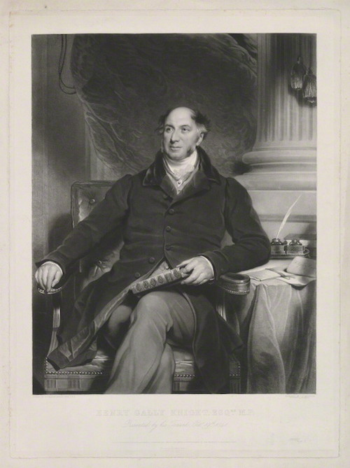 NPG D34270; Henry Gally Knight by Samuel William Reynolds Jr, printed by  Brooker & Harrison, published by  Paul and Dominic Colnaghi & Co, after  Sir Martin Archer Shee